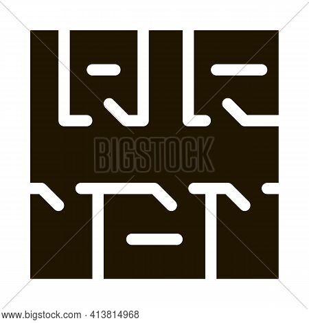 Geodetic Axis Breakdown Glyph Icon Vector. Geodetic Axis Breakdown Sign. Isolated Symbol Illustratio