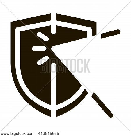 Strike For Defense Glyph Icon Vector. Strike For Defense Sign. Isolated Symbol Illustration