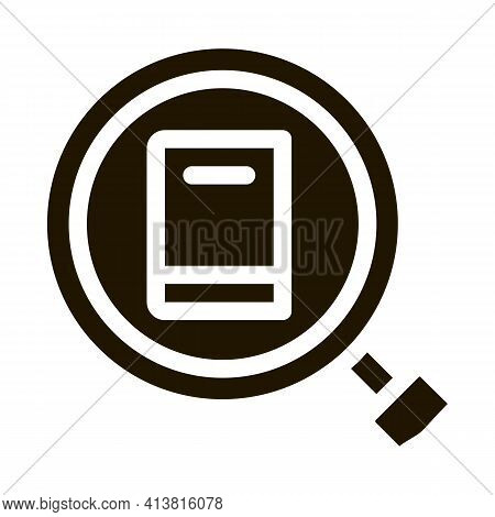 Specific Book Target Glyph Icon Vector. Specific Book Target Sign. Isolated Symbol Illustration
