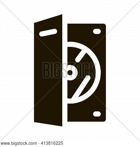 Disk Scratch Protection Glyph Icon Vector. Disk Scratch Protection Sign. Isolated Symbol Illustratio