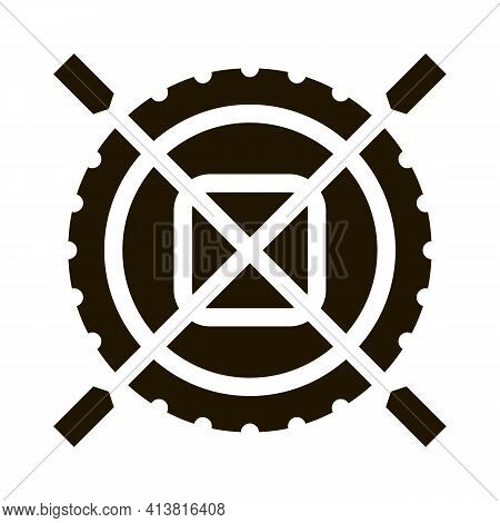 Non Impeller Tire Glyph Icon Vector. Non Impeller Tire Sign. Isolated Symbol Illustration