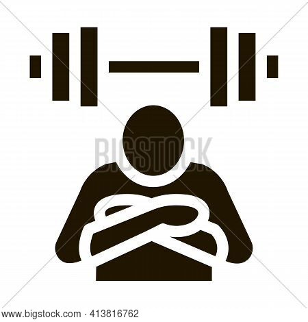 Inaction In Sports Glyph Icon Vector. Inaction In Sports Sign. Isolated Symbol Illustration