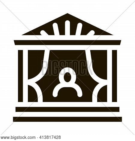 Greek Ancient Theater Glyph Icon Vector. Greek Ancient Theater Sign. Isolated Symbol Illustration