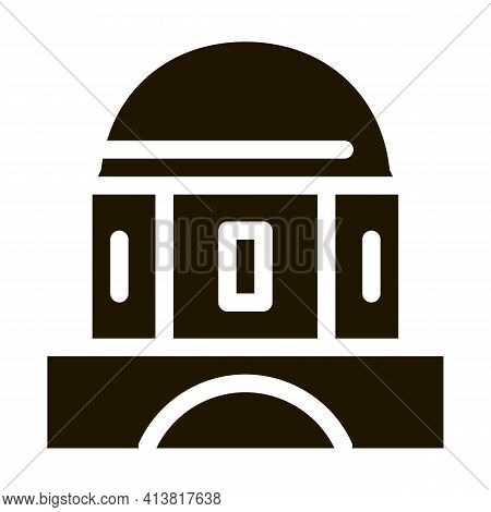 Classical Greek Building Dome Glyph Icon Vector. Classical Greek Building Dome Sign. Isolated Symbol