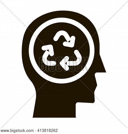 Environmentally Friendly Person Glyph Icon Vector. Environmentally Friendly Person Sign. Isolated Sy