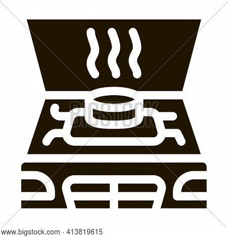 Engine Problem Under Hood Glyph Icon Vector. Engine Problem Under Hood Sign. Isolated Symbol Illustr