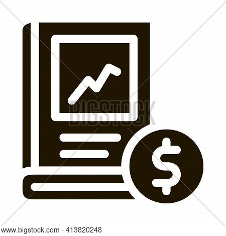 Growth Up Investing Book Glyph Icon Vector. Growth Up Investing Book Sign. Isolated Symbol Illustrat