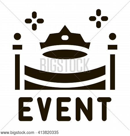 Solemn Presentation Event Glyph Icon Vector. Solemn Presentation Event Sign. Isolated Symbol Illustr
