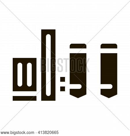 Thermal Towers With Heat Towers Glyph Icon Vector. Thermal Towers With Heat Towers Sign. Isolated Sy