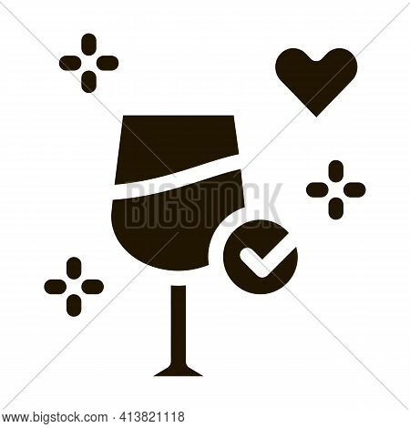Good Wine Endorsements Glyph Icon Vector. Good Wine Endorsements Sign. Isolated Symbol Illustration