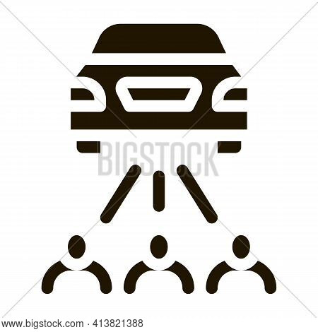 Inspection By People Glyph Icon Vector. Inspection By People Sign. Isolated Symbol Illustration