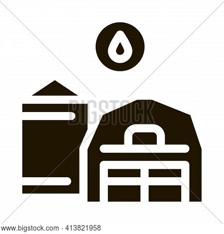 Farm Water Supply Glyph Icon Vector. Farm Water Supply Sign. Isolated Symbol Illustration