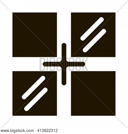 Laying Tiles Of Different Colors Glyph Icon Vector. Laying Tiles Of Different Colors Sign. Isolated