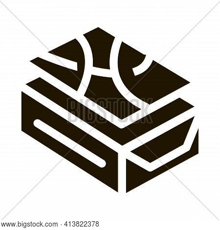 Pin Down Tile Glyph Icon Vector. Pin Down Tile Sign. Isolated Symbol Illustration
