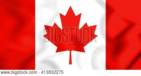 3d Flag Of Canada. 3d Illustration. Front View.
