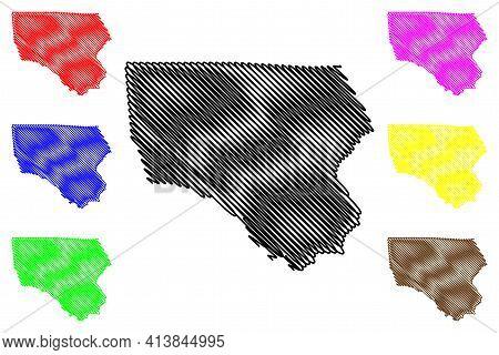 North Kordofan State (republic Of The Sudan, North Sudan) Map Vector Illustration, Scribble Sketch N
