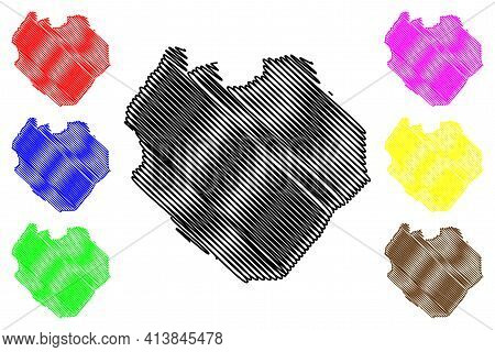 South Kordofan State (republic Of The Sudan, North Sudan) Map Vector Illustration, Scribble Sketch S