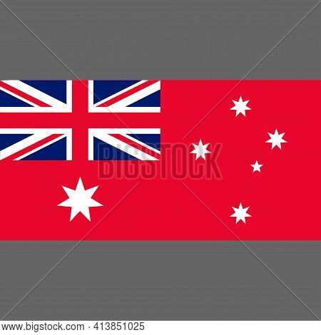 Civil Ensign Of Australia. Digital Reproduction. Vector.