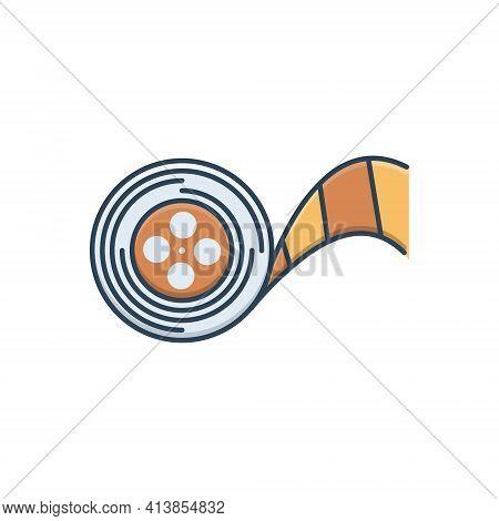 Color Illustration Icon For Demo-reels Demo Reels Multimedia Recorder