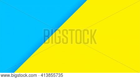 Color Background Blue And Yellow For Banner, Two Tone Opposite Colors, Yellow And Light Blue Paper B