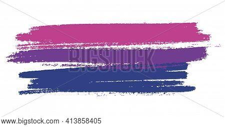 Bisexual Flag. Lgbt Pride Month In June. Lesbian Gay Bisexual Transgender. Celebrated Annual. Rainbo