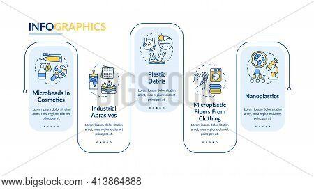 Microplastics Types Vector Infographic Template. Plastic Debris Presentation Design Elements. Data V