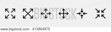 Rotation Icon. Arrow. Expand Arrows Minimal Line Icon. Included Icons As Diagonal Increase, Fullscre