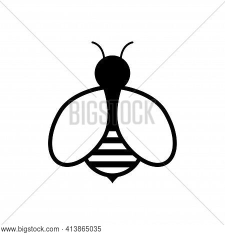 Bee Logo And Icon Design Vector. Bee Icon