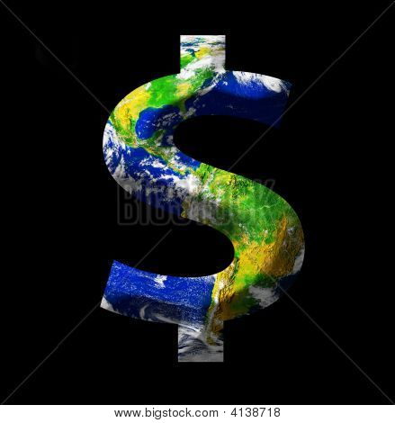 Earth As A Dollar Sign