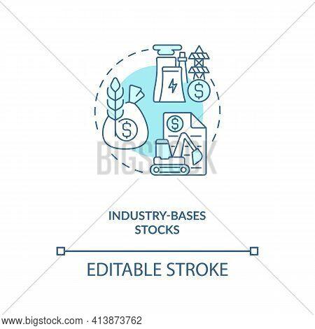 Industry-based Stocks Concept Icon. Stock Type Idea Thin Line Illustration. Company Sectors. Providi
