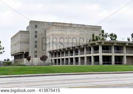 SANTA ANA, CALIFORNIA - AUGUST 27, 2018: Orange County Sheriffs Office and OC Central Mens Jail