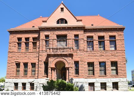 SANTA ANA, CA - APRIL 30, 2017: The Old Orange County Courthouse.The Historic Landmark in Santa Ana California is on the National Register of Historic Places.