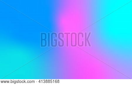 Abstract Iridescent Banner. Soft Hues Are A Classic Spring, Summer.