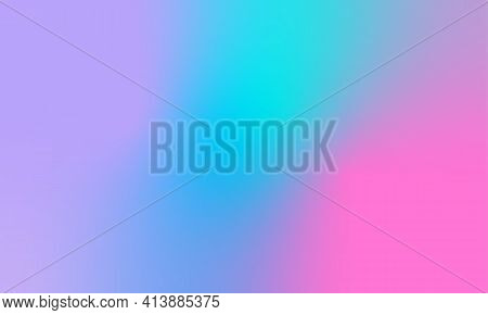 Modern Abstract Iridescent Background. Vector Illustration For Your Design