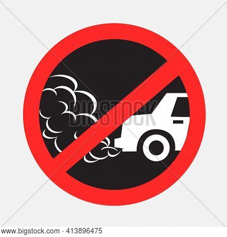 No Idling Turn Engine Off Sign Sticker