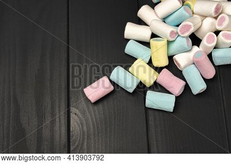 Colored Sweets With Sugary Sponge Texture. Candy And Sweets