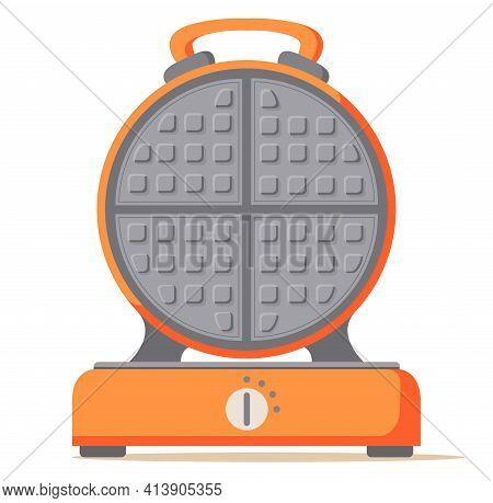 Waffle Maker. Electric Waffle Iron. Kitchen Appliance.