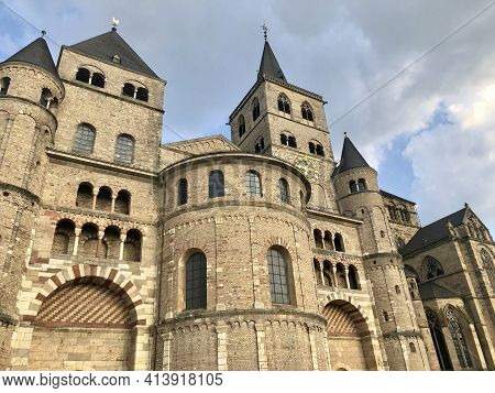 Trier, Germany - August 26, 2019: Saint Peters Cathedral In Trier