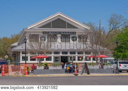 New Orleans, La - March 21: Historic St. Roch Market On St. Claude Avenue On March 21, 2021 In New O