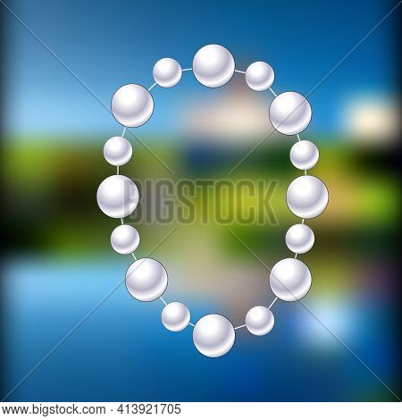 Round Beads, Pearl Beads. By Design And Textures. Illustration.