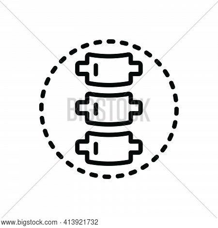 Black Line Icon For Spine Backbone Spinal-column Vertebral-column Vertebrae Orthopedic