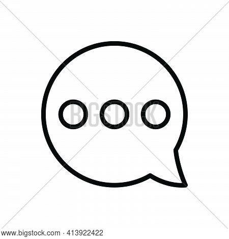 Black Line Icon For Misc Bubble Message Chat Dialogue Blog Conversation
