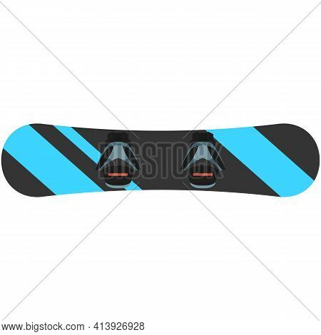 Snow Ski Snowboard Vector Isolated On White Background