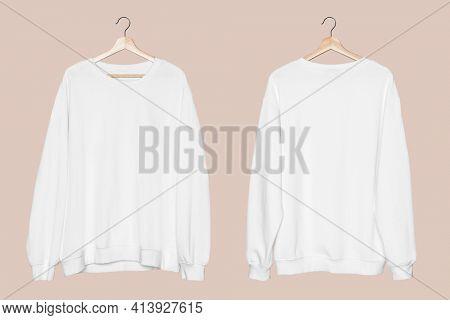 Simple white jumper unisex streetwear apparel