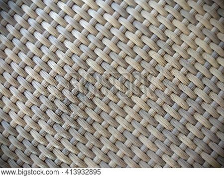 Dark Brown Tone Basket Weave Pattern Background