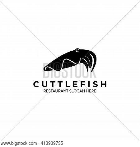 Cuttlefish Restaurant Logo Vector Illustration Design, Vintage Logo