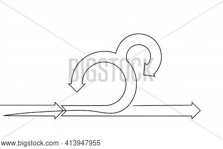 Single Continuous Line Art Agile Development Project Lifecycle. Test System Strategy Concept. Circle