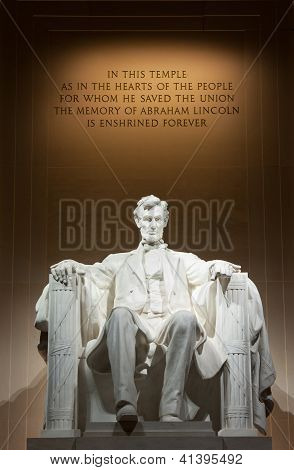 Lincoln Memorial Statue Washington DC