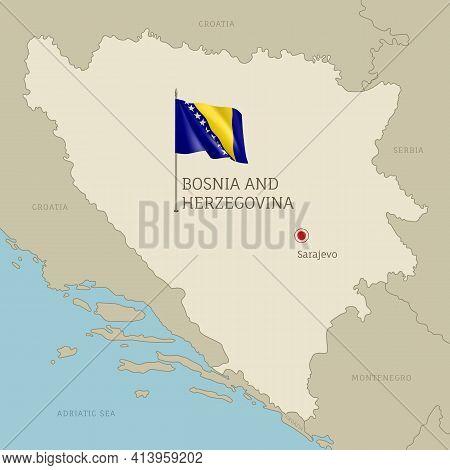 Map Of Bosnia And Herzegovina Territory Borders