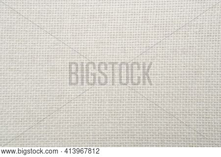 White Textured Pattern Background Made From Paper Similar To Straw Weaving.